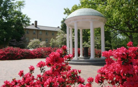 The Old Well located on the UNC Chapel Hill campus, is a popular and historic attraction. The Well was first used as a water supply back in the 1800's but is now seen as the heart of campus.