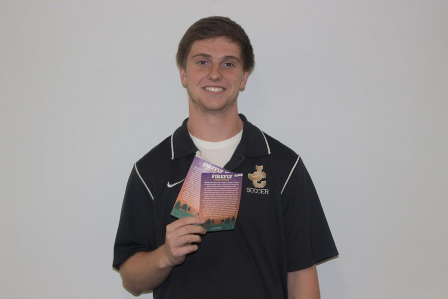 Junior Matt Hammons won the contest for for two Firefly tickets. Firefly is a music festival at the Woodlands in Dover, DE on June 16-19.
