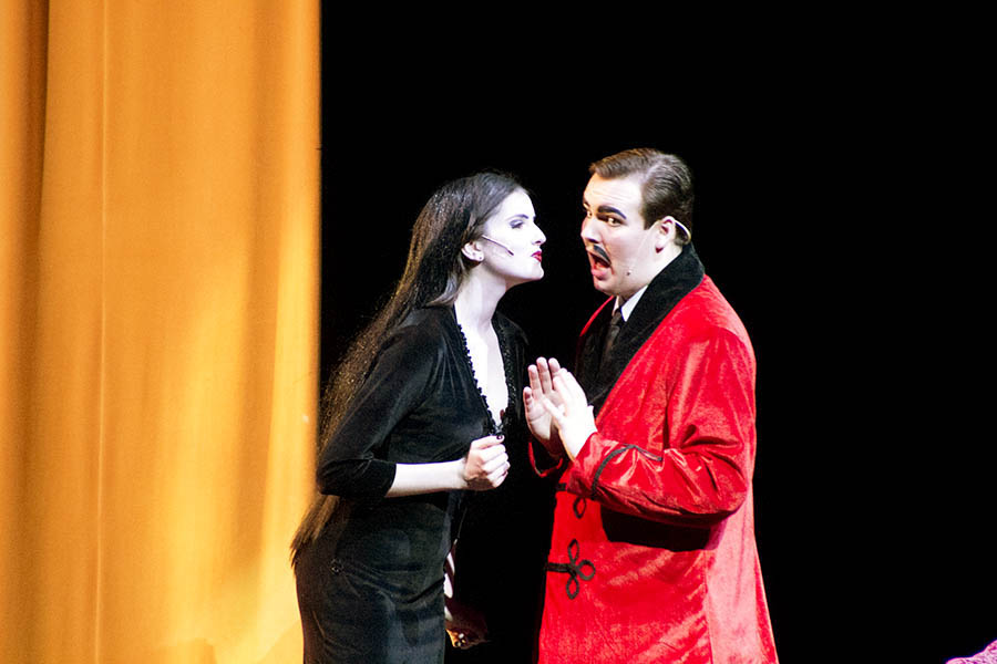 Senior Lilly Stannard and junior Zach Miller played Morticia and Gomez Addams in the spring musical