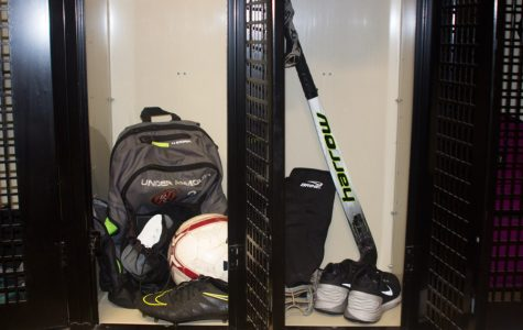 Field hockey and soccer teams share locker rooms