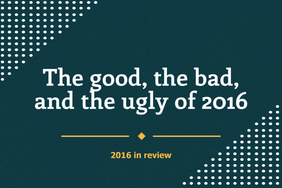 Overall, 2016 was an eventual year that consisted of nonstop surprises. Even though there were scientific discoveries and improvement in animal safety, the political discussions and celebrity deaths made 2016 an interesting year.