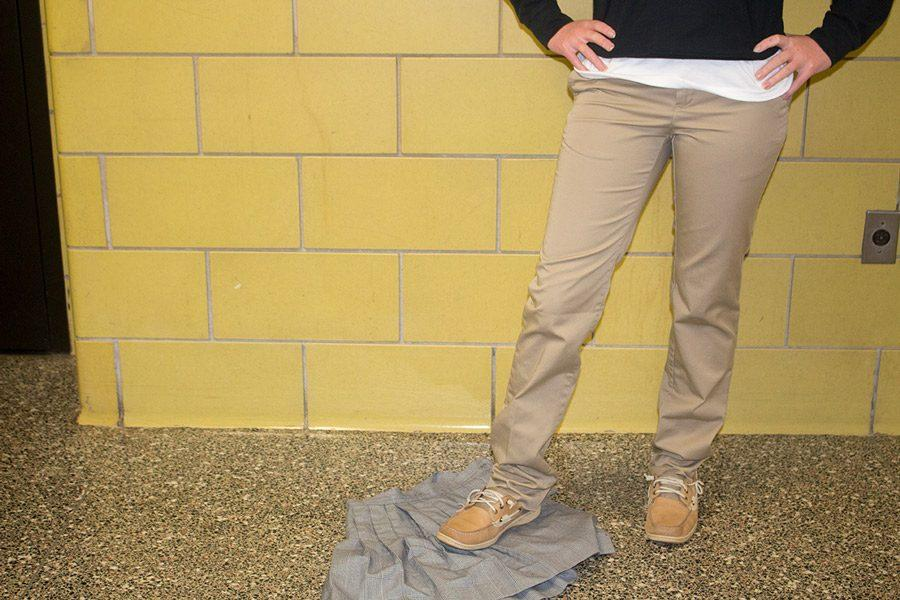 The Discipline Committee addressed skirt length violations and announced that females with short skirts will be told to change into pants. These pants will either be black or khaki.