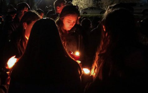 Candlelight vigil, Tim Perry visits, Ash Wednesday, and the Athletic Banquet