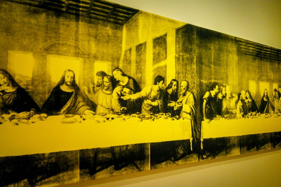 """Andy Warhol's piece """"The Last Decade"""" reinterprets the """"Last Supper"""" by Leonardo da Vinci.The BMA contains the second largest collection of Warhol pieces outside of The Warhol Museum in Pittsburgh, Pa."""