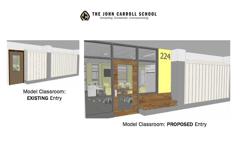 This+is+the+hallway+view+of+the+model+classroom.++Renovations+are+expected+to+begin+over+the+summer+and+be+completed+in+the+fall.