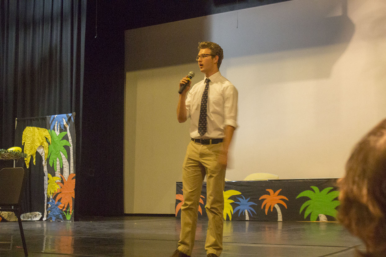 Junior+Matt+Foulk+presents+his+speech+for+SGA+Vice+President+on+Thursday%2C+May+12+during+the+H-Day+assembly+mod.+Foulk+ran+unopposed%2C+while+juniors+Danny+Schall+and+Paul+Diehl+ran+against+each+other+for+SGA+President.+%0A