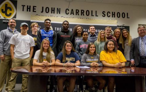 Senior athletes recognized for college commitments
