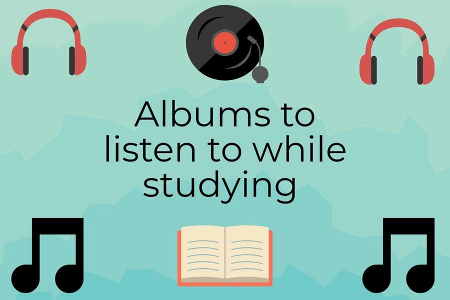 With exams quickly approaching, try these five albums to help you study. The songs have a mellow beat, creating a calm and easy environment for focusing on academics.