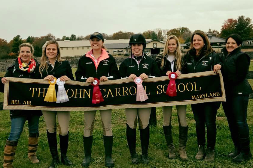 The JC equestrian poses for a photo at Stonegate Stables in Virginia on Nov. 4.