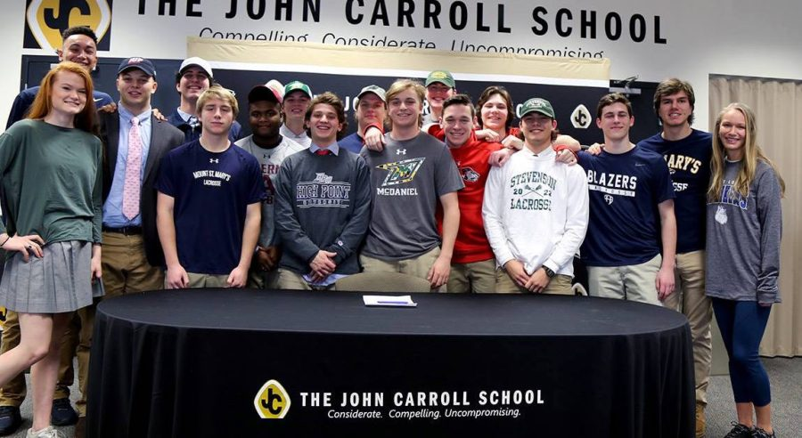 Athletes recognized for college commitments