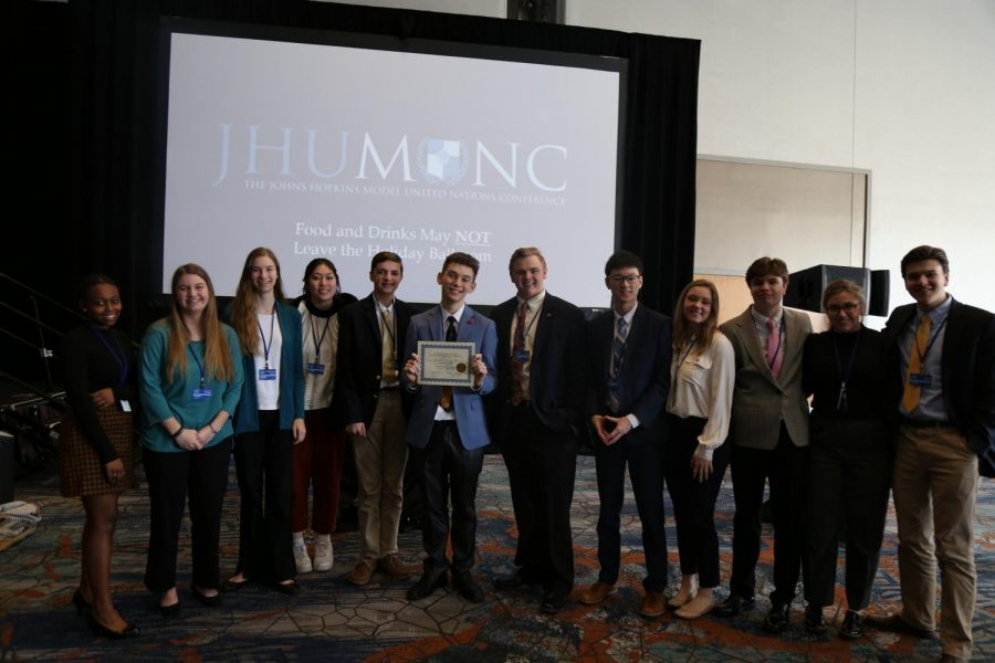 JC students represent committees at Model United Nations conference at Johns Hopkins