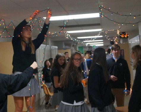 JC halls boast holiday lights and decorations